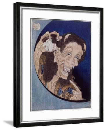 Démon riant-Katsushika Hokusai-Framed Giclee Print