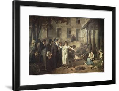 Le docteur P. Pinel faisant tomber les chaînes des aliénés-Tony Robert-fleury-Framed Giclee Print