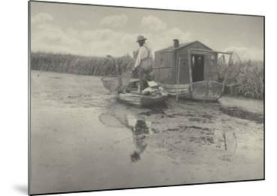 An Eel-catcher's home-Peter Henry Emerson-Mounted Giclee Print