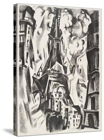 La Tour Eiffel-Robert Delaunay-Stretched Canvas Print
