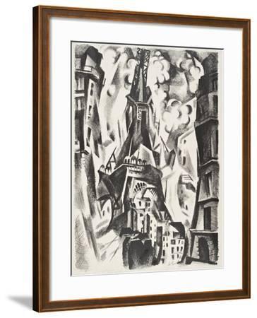 La Tour Eiffel-Robert Delaunay-Framed Giclee Print