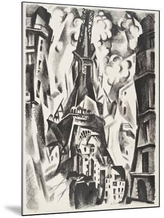 La Tour Eiffel-Robert Delaunay-Mounted Giclee Print