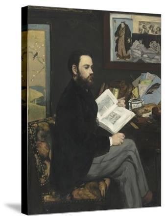 Emile Zola (1840-1902), écrivain-Edouard Manet-Stretched Canvas Print