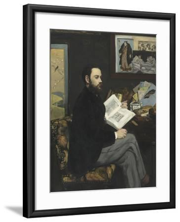 Emile Zola (1840-1902), écrivain-Edouard Manet-Framed Giclee Print