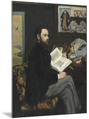 Emile Zola (1840-1902), écrivain-Edouard Manet-Mounted Giclee Print