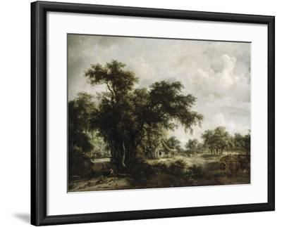 La ferme-Meindert Hobbema-Framed Giclee Print