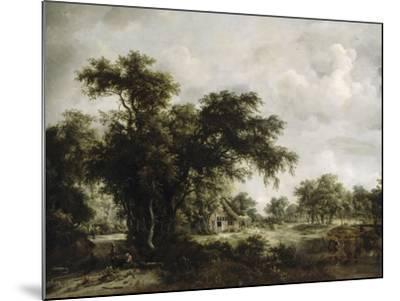 La ferme-Meindert Hobbema-Mounted Giclee Print