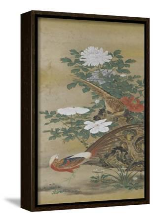 Salon du lac--Framed Stretched Canvas Print
