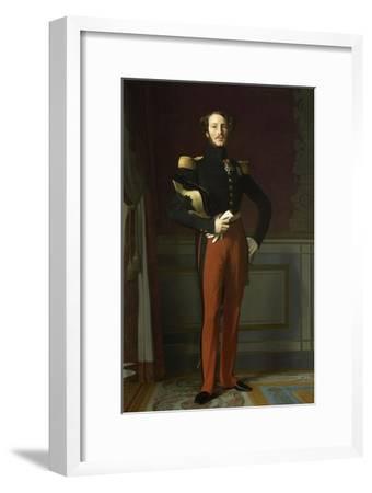 Ferdinand Philippe, duc d'Orléans (1810-1842), représenté en uniforme de général de division-Jean-Auguste-Dominique Ingres-Framed Giclee Print