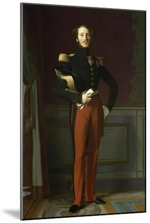 Ferdinand Philippe, duc d'Orléans (1810-1842), représenté en uniforme de général de division-Jean-Auguste-Dominique Ingres-Mounted Giclee Print