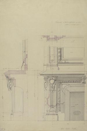 Cheminée  et partie inférieure  de son encadrement-Antoine Zoegger-Stretched Canvas Print