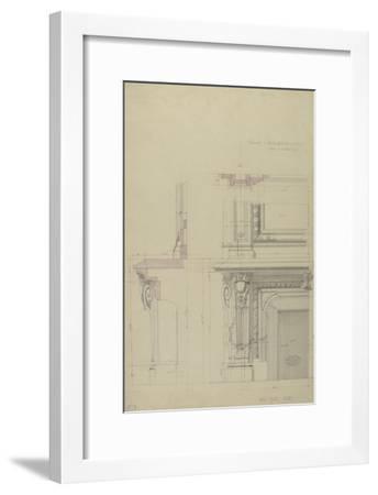 Cheminée  et partie inférieure  de son encadrement-Antoine Zoegger-Framed Giclee Print