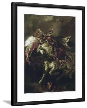 Combat du Giaour et du Pacha.-Eugene Delacroix-Framed Giclee Print
