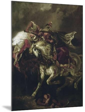 Combat du Giaour et du Pacha.-Eugene Delacroix-Mounted Giclee Print
