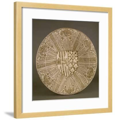 Plat aux armes de l'Infant Juan d'Aragon et de Blanche de Navarre--Framed Giclee Print