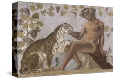 Fresque : Bacchus-Eugene Delacroix-Stretched Canvas Print