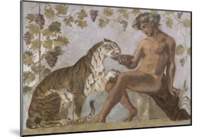 Fresque : Bacchus-Eugene Delacroix-Mounted Giclee Print