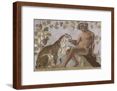 Fresque : Bacchus-Eugene Delacroix-Framed Giclee Print