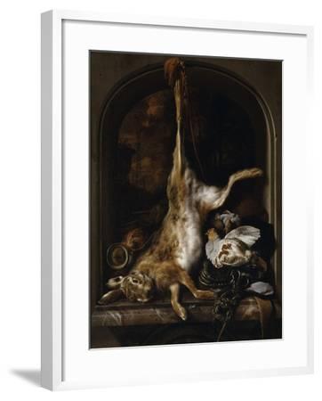 Gibier et ustensiles de chasse disposés sur le rebord d'une fenêtre-Jan Baptist Weenix-Framed Giclee Print