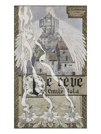 "Frontispice pour ""Le Rêve"" de Zola-Carlos Schwabe-Framed Giclee Print"