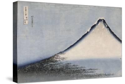 Le Fuji bleu-Katsushika Hokusai-Stretched Canvas Print