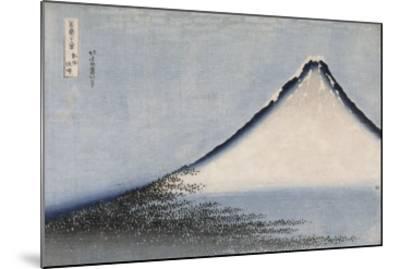 Le Fuji bleu-Katsushika Hokusai-Mounted Premium Giclee Print