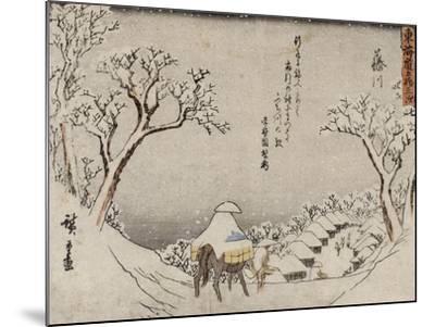 Fujikawa-Ando Hiroshige-Mounted Giclee Print