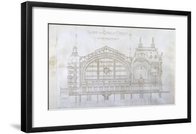 Gare d'Orsay (Paris) : coupe transversale-Victor Laloux-Framed Giclee Print