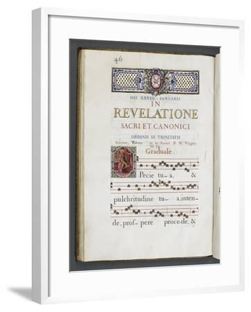 Graduale romanum, exécuté par P. Louis Blouin-J.B. de Bray-Framed Giclee Print