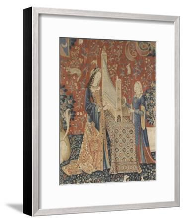 Tenture de la Dame à la Licorne : l'Ouie--Framed Giclee Print