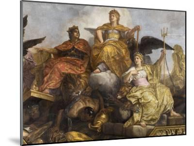 """Galerie des Glaces : plafond, compartiment central """"-Charles Le Brun-Mounted Giclee Print"""