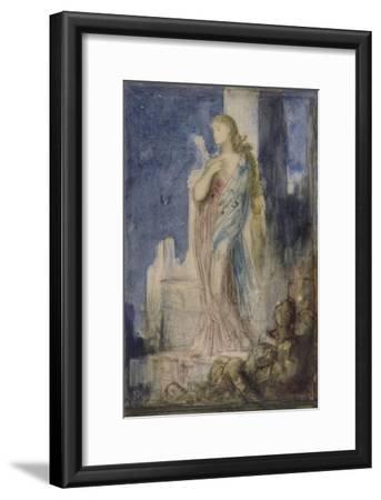 Hélène sur les remparts de Troie-Gustave Moreau-Framed Giclee Print