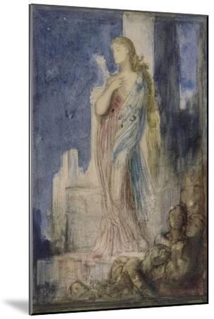 Hélène sur les remparts de Troie-Gustave Moreau-Mounted Giclee Print