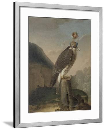 Faucon chaperonné.-Nicasius Bernaerts-Framed Giclee Print