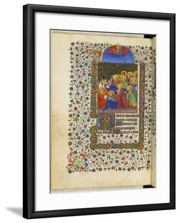 Hours for the Use of Paris: the Death of the Virgin--Framed Giclee Print