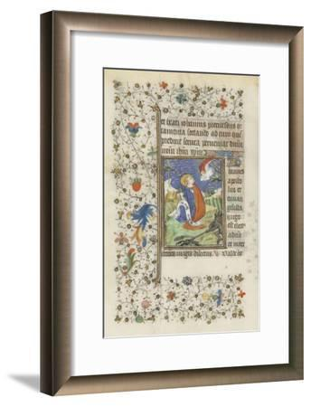 Hours for the Use of Troyes. St. John the Evangelist--Framed Giclee Print