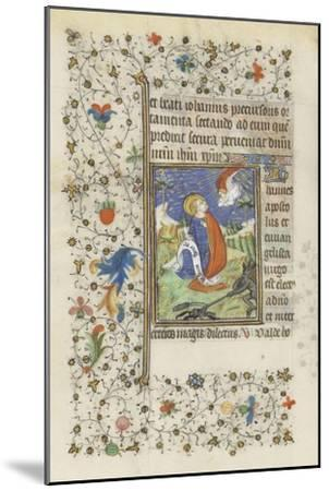 Hours for the Use of Troyes. St. John the Evangelist--Mounted Giclee Print