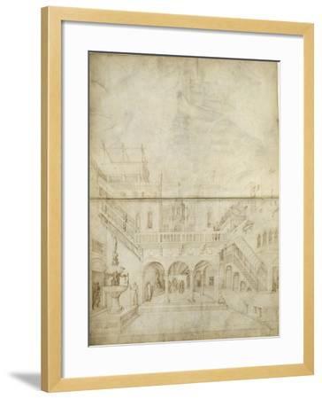 Architecture ; Jugement de Salomon-Jacopo Bellini-Framed Giclee Print