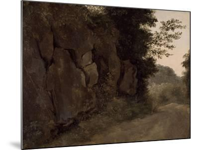 Environs de Nemi : rochers-Pierre Henri de Valenciennes-Mounted Giclee Print