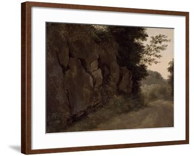 Environs de Nemi : rochers-Pierre Henri de Valenciennes-Framed Giclee Print