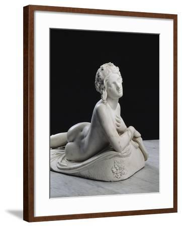 Bacchante au repos dite aussi Dircé-Lorenzo Bartolini-Framed Giclee Print