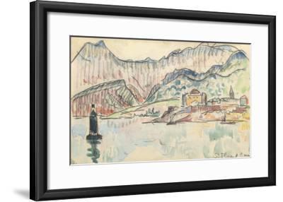 Carnet : Vue de saint Florent-Paul Signac-Framed Giclee Print
