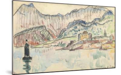Carnet : Vue de saint Florent-Paul Signac-Mounted Giclee Print