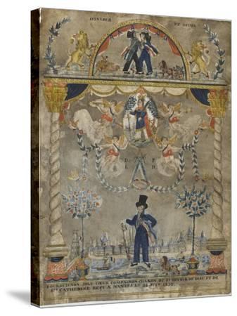 Bourguignon Loly coeur, compagnon charron du st devoir de Dieu et de sainte Catherine--Stretched Canvas Print