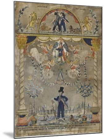 Bourguignon Loly coeur, compagnon charron du st devoir de Dieu et de sainte Catherine--Mounted Giclee Print