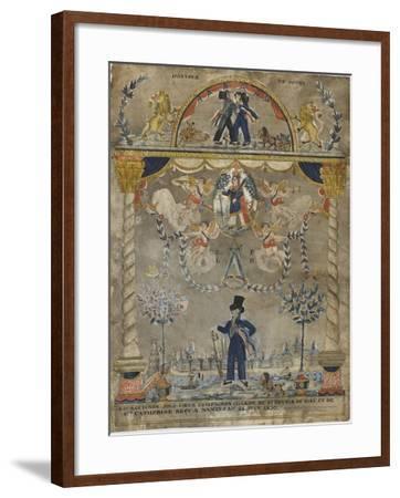 Bourguignon Loly coeur, compagnon charron du st devoir de Dieu et de sainte Catherine--Framed Giclee Print