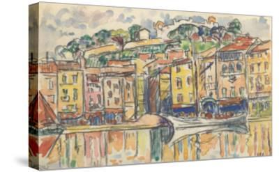 Carnet : Port d'une ville de la côte Méditérranéenne-Paul Signac-Stretched Canvas Print
