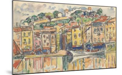 Carnet : Port d'une ville de la côte Méditérranéenne-Paul Signac-Mounted Giclee Print