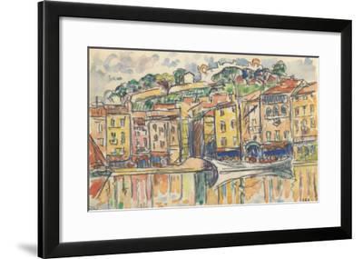 Carnet : Port d'une ville de la côte Méditérranéenne-Paul Signac-Framed Giclee Print