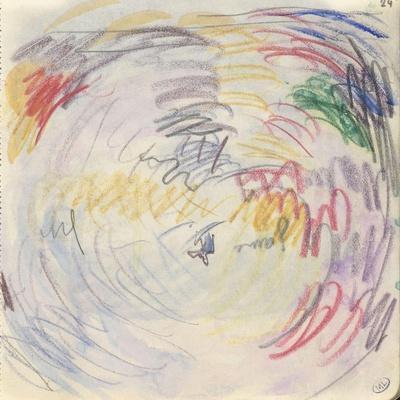 Carnet : Composition circulaire et annotations manuscrites-Paul Signac-Stretched Canvas Print